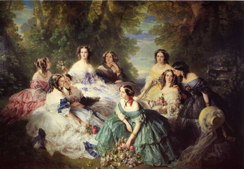 Winterhalter_Franz_Xavier_The_Empress_Eugenie_Surrounded_by_her_Ladies_in_Waiting