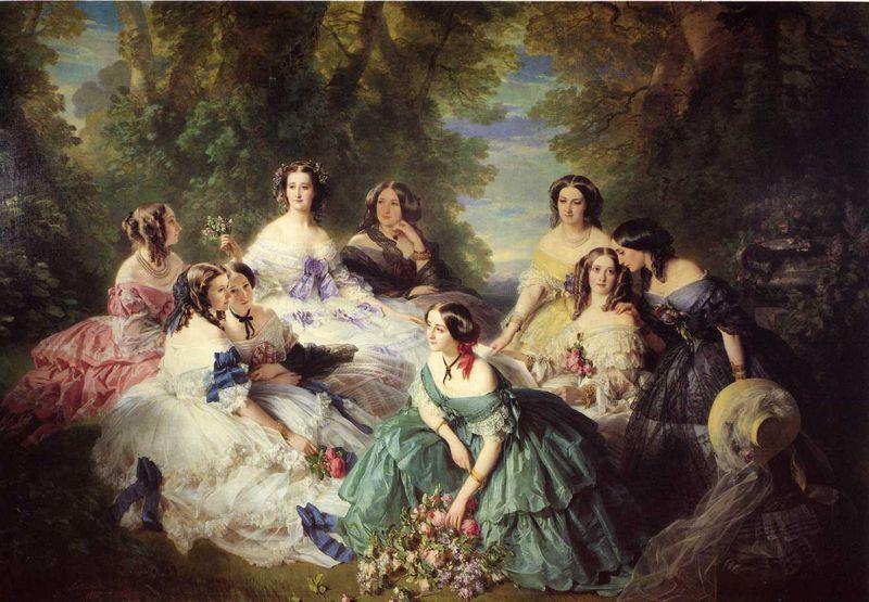 Winterhalter_Franz_Xavier_The_Empress_Eugenie_Surrounded_by_her_Ladies_in_Waiting