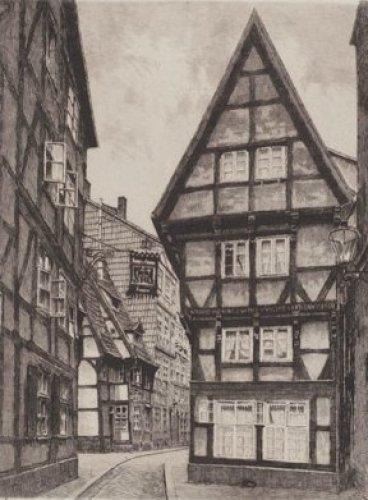 Hannover Potthof, print by Bruck