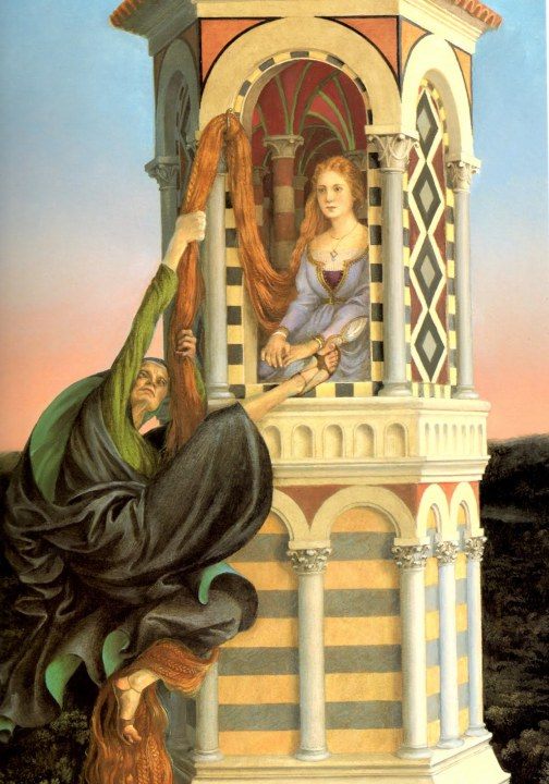 Rapunzel and witch paul o zelinsky 1997