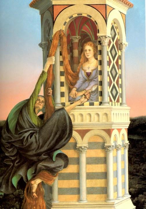 Rapunzel and witch paul o zelinsky 1997