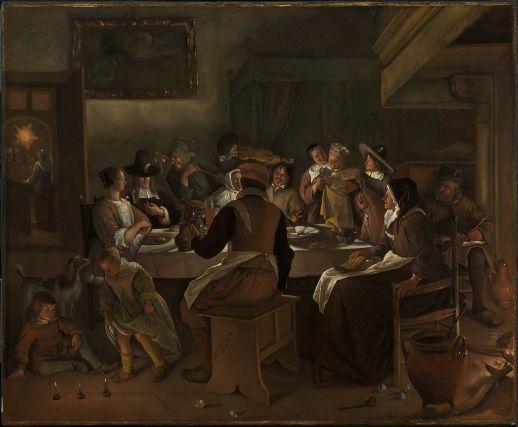 Jan steen twelfth night feast