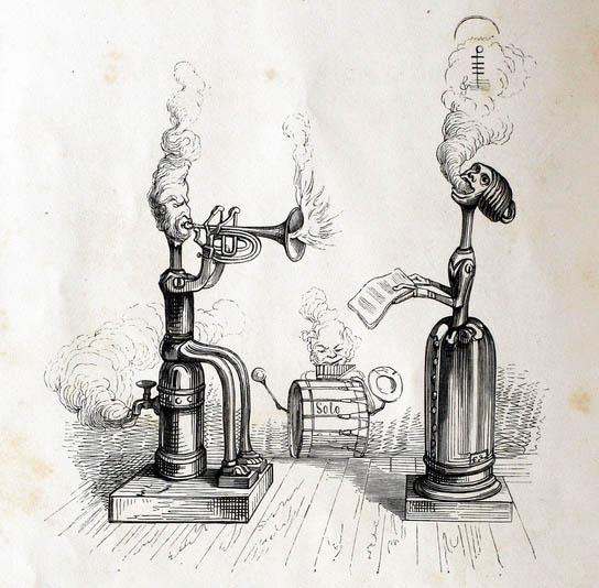 Concert of steam cornet and soprano