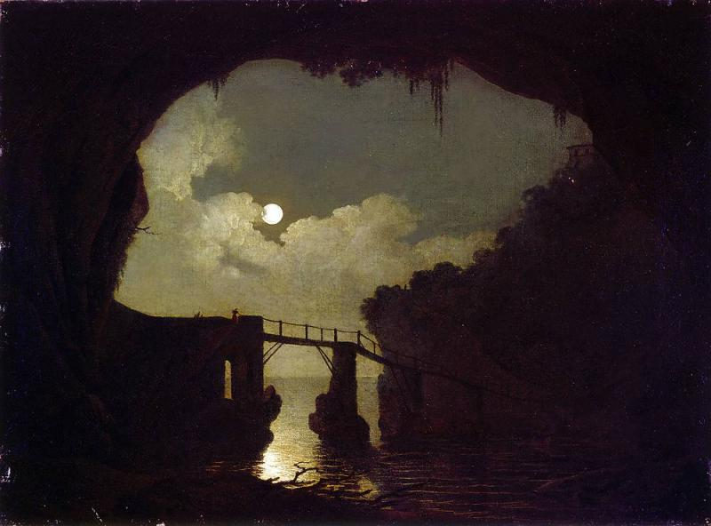 Joseph_Wright_of_Derby_Bridge_Through_a_Cavern_Moonlight