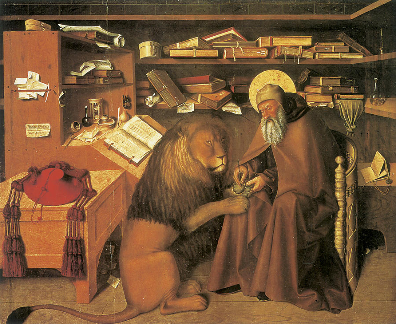 Saint-jerome-in-his-study-colantonio-